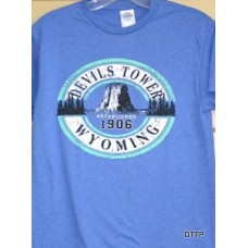 Devils Tower Blue T-Shirt