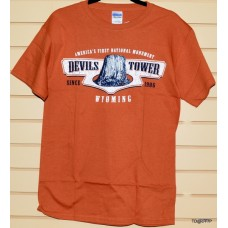 Devils Tower Orange T-shirt