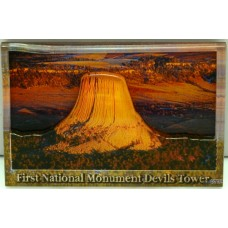 Devils Tower 3-D Arial View Magnet