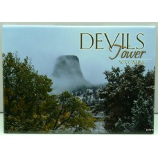Devils Tower In Fog Magnet