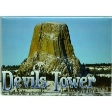 Devils Tower In Snow Magnet