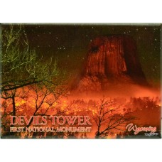 Devils Tower On Fire Magnet