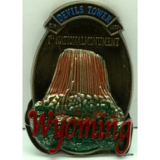 Devils Tower Pewter Magnet