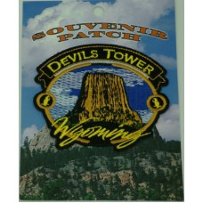 Devils Tower Round Patch Blue Sky