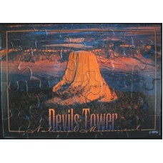 Devils Tower Aerial Puzzle Postcard