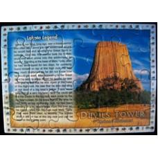 Devils Tower Legend Puzzle Postcard