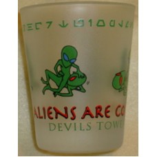 Aliens Shot Glass