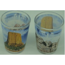 Devils Tower / Mt Rushmore Shot Glass
