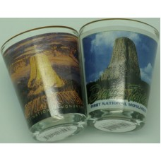 Devils Tower Post Card Shot Glass
