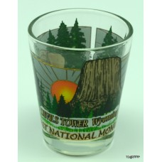Devils Tower Sun Shot Glass