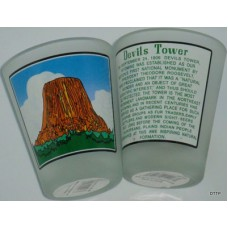 Devils Tower Water Color Shot Glass