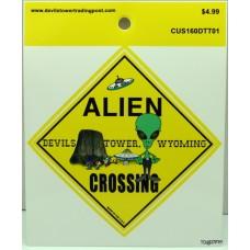 Alien Crossing Sticker
